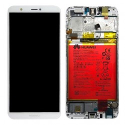 Écran complet P Smart Huawei Blanc 02351SVE