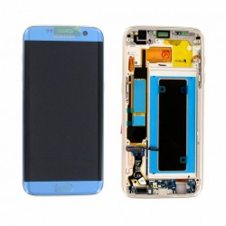 Écran complet S7 Edge G935 Samsung Bleu Corail GH97-18767G